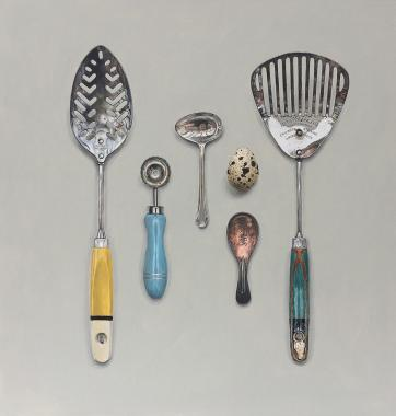 Hybrid Gallery Rachel Ross Utensils with Quail's Egg
