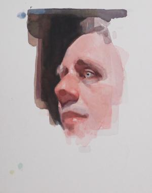 Hybrid Gallery Felicia Forte Watercolour Study of a Man