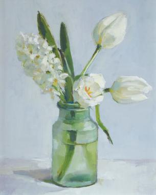 Hybrid Gallery Annie Waring White Tulips and Hyacinth