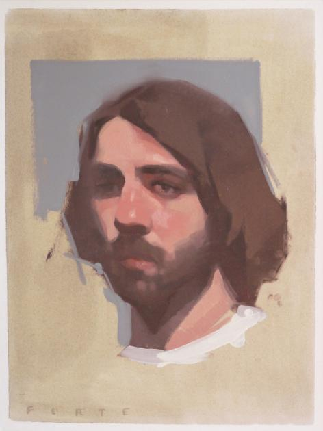 Hybrid Gallery Felicia Forte Study of a Man with Beard