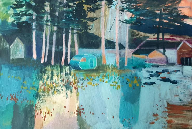 Hybrid Gallery Jane Askey Sunset Tall Pines