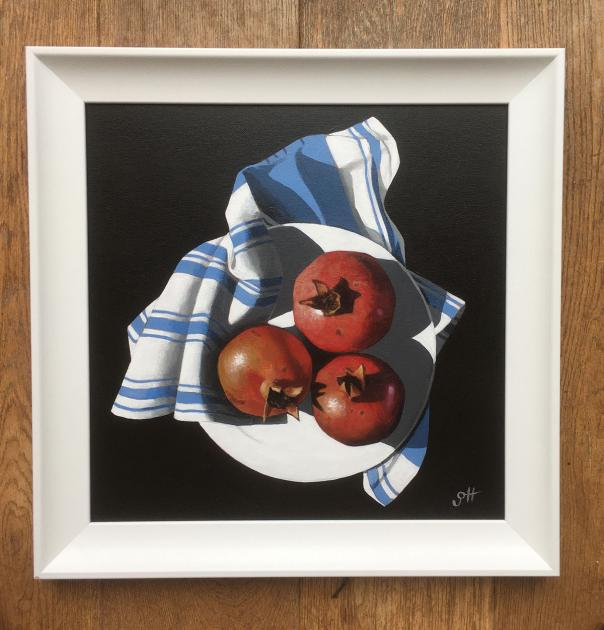 Hybrid Gallery Gill Hamilton Pomegranates with Striped Cloth