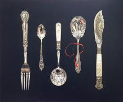 Cutlery Collection with Red Ribbon