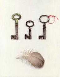 Three Keys with Feather