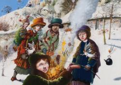Hybrid Gallery Richard Adams Winter Bonfire