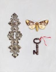 Escutcheon with Moth and Key