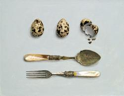 Fancy Cutlery with Eggs