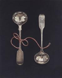 Hybrid Gallery Rachel Ross Salt Spoons with Butterfly and Pink