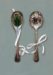 Hybrid Gallery Rachel Ross Spoons with Holly Leaf