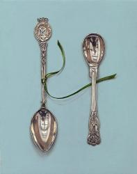 Hybrid Gallery Rachel Ross Small Spoons with Green Ribbon