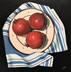 Hybrid Gallery Gill Hamilton Pomegranates on Tea Cloth