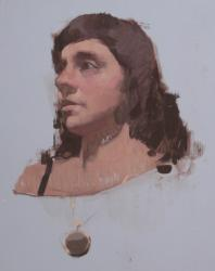 Hybrid Gallery Felicia Forte Study of a Woman with Necklace