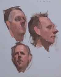 Hybrid Gallery Felicia Forte Three Studies of a Head