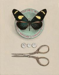 Hybrid Gallery Rachel Ross Pin Box with Butterfly and Scissors