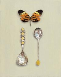 Hybrid Gallery Rachel Ross Butterfly with Two Coffee Spoons