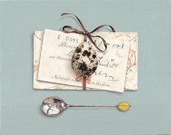 Hybrid Gallery Rachel Ross Receipt with Quail's Egg and Envelope