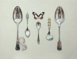 Hybrid Gallery Rachel Ross Collected Spoons with Striped Ribbon and Butterfly