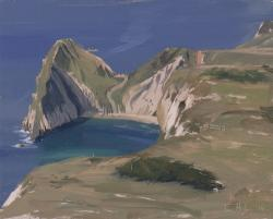 Durdle Door from Dungy Head, September Morning