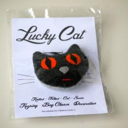 Lucky Cat key ring or bag charm