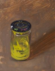 Jar with Yellow Paint