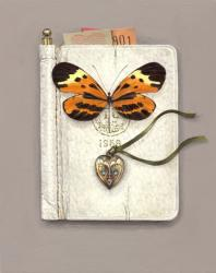 Hybrid Gallery Rachel Ross  Diary with Locket and Butterfly